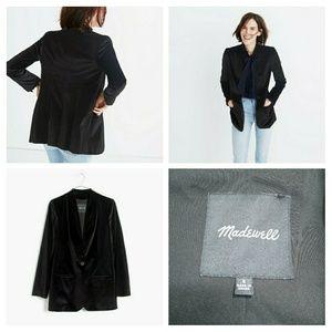 Madewell black velvet blazer size 6